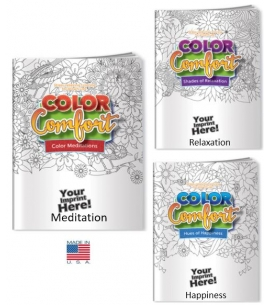 Adult Coloring Books USA Made Mental Health Themed Eco Promotional products