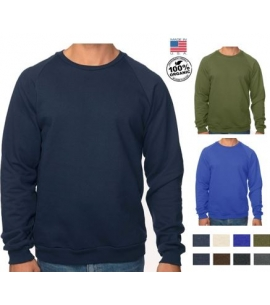 USA Made Organic Cotton Crew Neck Sweatshirt Branded