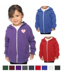 USA Made Toddler Fleece Zip Hoody