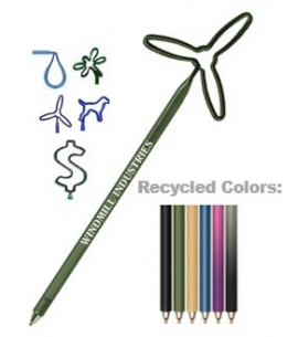 USA bent shapes mixed shapes eco recycled branded pens