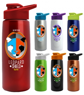 USA Made Tritan Metallic Like Water Bottle Full Color