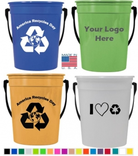 32 oz Pail with handle 32 oz recycle bucket