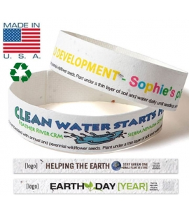 USA made recycled seeded wristbands custom