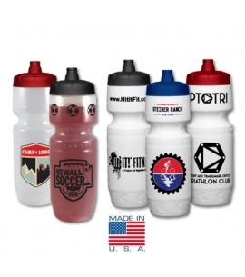 Recyclable Sports Squeeze Bottle | USA Made | 24 oz