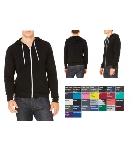 Unisex Poly-Cotton Fleece Full Zip Hoodie  | WRAP Certified
