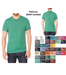 Unisex Retail Fit Triblend Short Sleeve T-Shirt | WRAP Certified