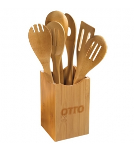 Custom bamboo utensil set bamboo utensil set gift epicurean gift promotional product