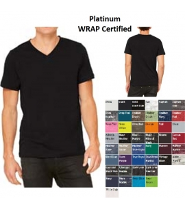Unisex Retail Fit V-Neck T-Shirt | WRAP Certified