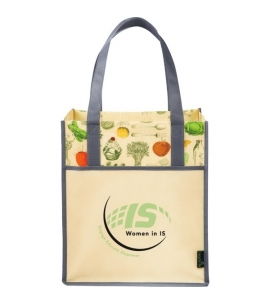 Vintage Inspired Tote Bag | Laminated | 15x13x10