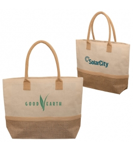 Custom Laminated Jute and Canvas Tote Bag