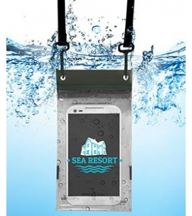 Waterproof phone caddy with lanyard
