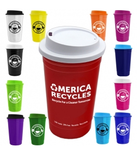 USA made reusable recyclable customizable travel coffee cup