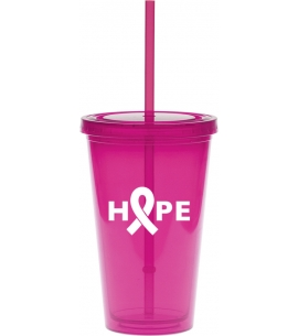 custom 16 oz breast cancer carnival cup