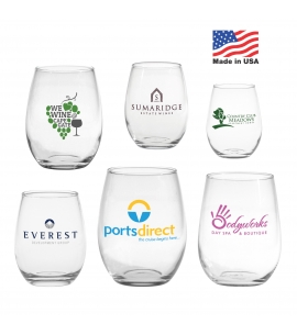 Custom Branded Stemless Wine Glass | USA Made
