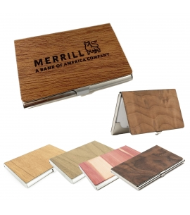 Sustainable Wood Custom Business Card Holder