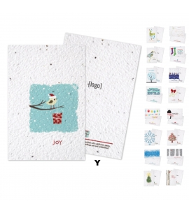 Seed Paper Plantable Holiday Postcards