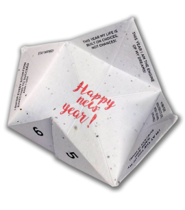 Seed Paper Fortune Teller Recycled Biodegradable Promotional Puzzle