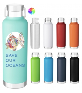 h2go Journey Powder Coated Custom Water Bottle Full Color