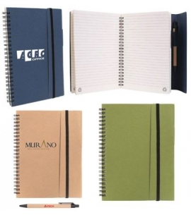 Recycled Journal Notebook Recycled Paper Pen Eco Friendly Notebook