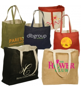 Reversible Cotton and Jute Tote