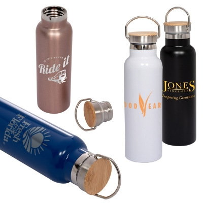 20 ounce vacuum bottle with bamboo lid
