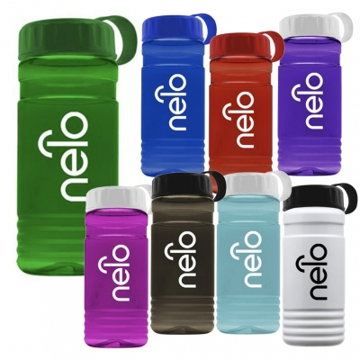 20 oz Recycled rPETE Water Bottle Tethered Lid