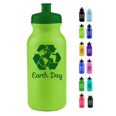 20 oz USA made earth day water bottle