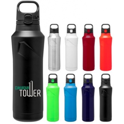 20oz double wall stainless steel bottle copper vacuum push button lid