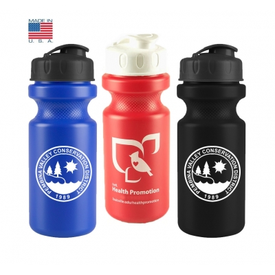 Flip Top Water Bottle   Recycled   USA Made   22 oz