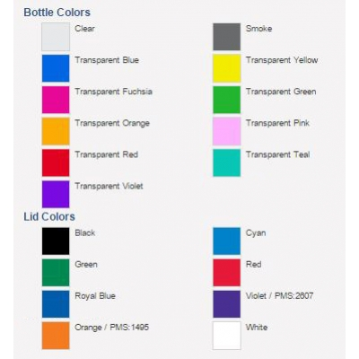 USA Made Recycled Flip Lid Transparent Water Bottle Colors