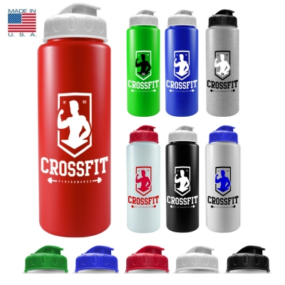 Flip Top Water Bottle | Recycled | USA Made | 32 oz