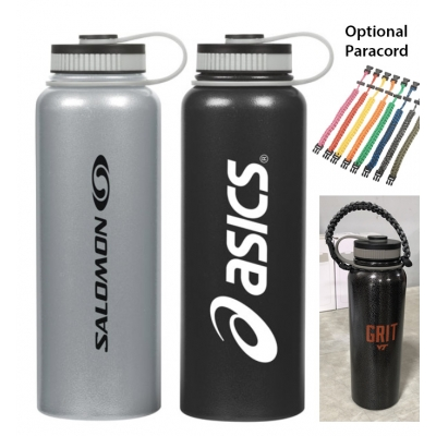 40 oz Double Wall Stainless Steel Bottle - Copper Vacuum Insulated
