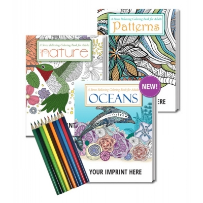 Adult Coloring Book Gift Set | USA Made | Recyclable | Eco ...