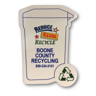 America Recycles Day Recycled Shape Magnets