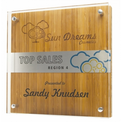 Eco Friendly Plaque   Bamboo   USA Made   Full Color   3 Sizes