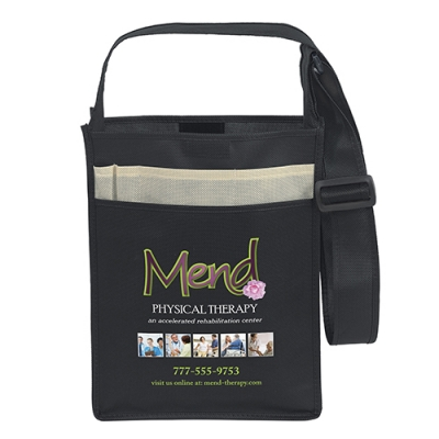 Recycled Messenger Tote 10x3x13 - Full Color