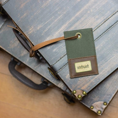 Canvas and Vegan Leather Custom Luggage Tag