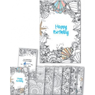 Custom Coloring Birthday Card Booklet Usa Made Eco Promotional