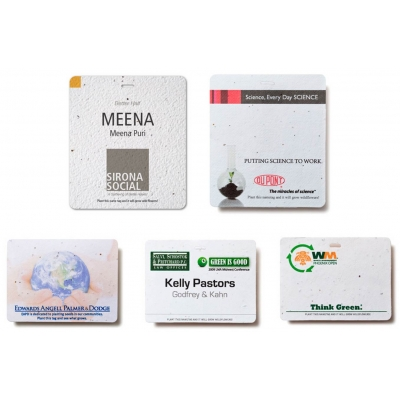 custom name badges plantable name badges eco friendly name badges