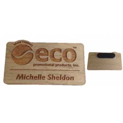 Well-liked Custom Name Badges, USA Made from Recycled Wood | Eco Promotional  KR15