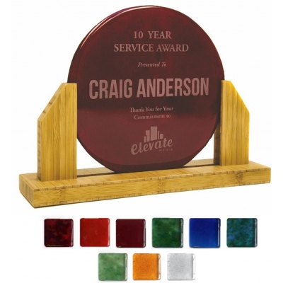 Recycled glass award sustainable bamboo