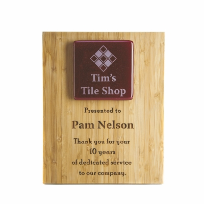 Custom Plaque   Bamboo   Recycled   USA Made   3 Sizes
