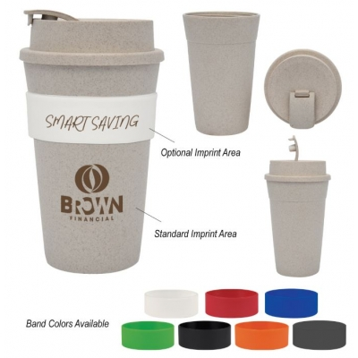 Custom Wheat Straw Travel Tumbler Wheat Straw Promotional Products