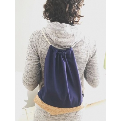Custom cork and cotton backpack