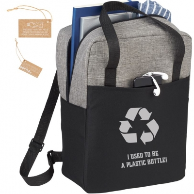 Custom recycled water bottle backpack-I used to be a plastic bottle