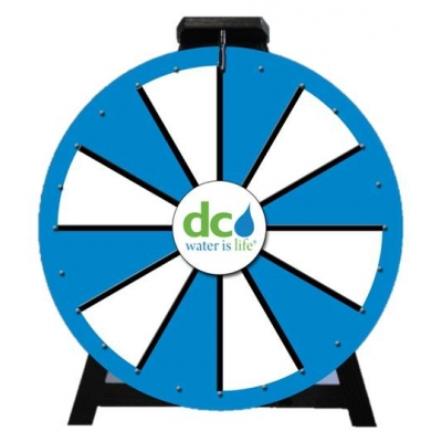 """Dry Erase Prize Wheel USA Made - Sizes: 16"""" & 24"""" - Full Color"""
