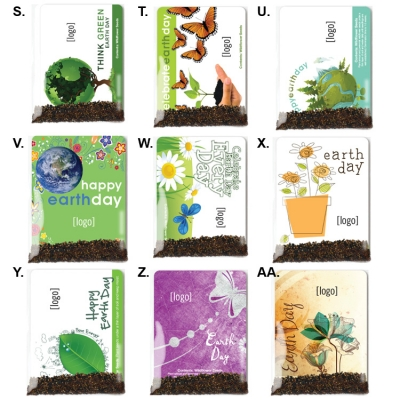 USA Made Earth Day Pollinator Seed Packets | Recycled Promotional Product