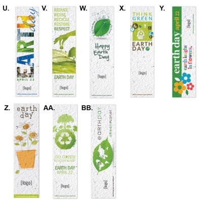 Earth Day Promotional Seeded Paper Bookmarks