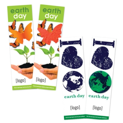 Earth Day USA Made Bookmark With Seeded Plantable Shape