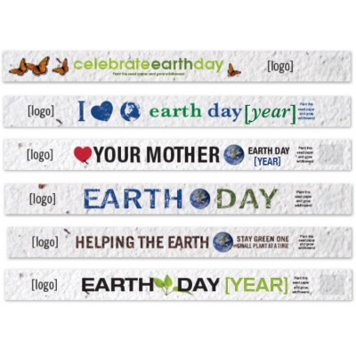 Earth Day Seeded Promotional Wristbands
